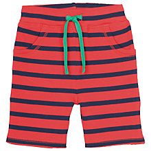 Buy Frugi Organic Baby Stripe Shorts, Red/Navy Online at johnlewis.com