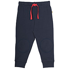 Buy Frugi Organic Baby Kneepatch Crawler Trousers, Navy Online at johnlewis.com