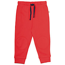 Buy Frugi Organic Baby Kneepatch Crawler Trousers, Red Online at johnlewis.com