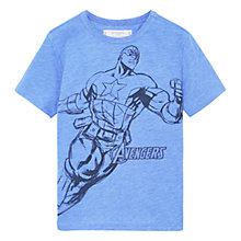 Buy Mango Kids Boys' Marvel Avengers Print T-Shirt, Blue Online at johnlewis.com