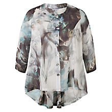 Buy Chesca Abstract Print Top, Grey/Turquoise Online at johnlewis.com