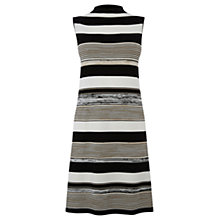 Buy Warehouse Stripe Space Dye Dress, Multi Online at johnlewis.com