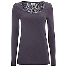 Buy White Stuff Bonita Jersey Tee, Midnight Mauve Online at johnlewis.com