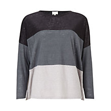 Buy East Jersey Colour Block Top, Slate Online at johnlewis.com