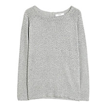 Buy Mango Polka Dot Jumper, Pastel Grey Online at johnlewis.com