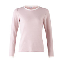 Buy Jigsaw Cotton Cashmere Trim Jumper Online at johnlewis.com