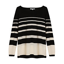 Buy Gerard Darel Bomba Wool Jumper, Black/Cream Online at johnlewis.com