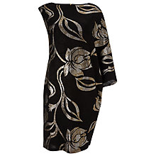 Buy Phase Eight Florie Foil Print Dress, Black Online at johnlewis.com