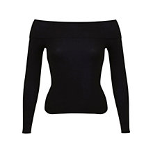 Buy Miss Selfridge Ribbed Bardot Jumper Online at johnlewis.com