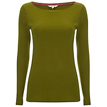 Buy White Stuff Spear Super Soft Jersey Tee, Tarragon Online at johnlewis.com