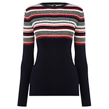 Buy Warehouse Stitch Stripe Jumper, Multi Online at johnlewis.com