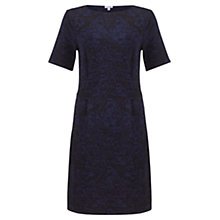 Buy Jigsaw Ditsy Print Shift Dress, Navy Online at johnlewis.com