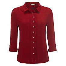 Buy White Stuff Sylvia Jersey Shirt, Chilli Red Online at johnlewis.com