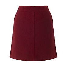 Buy Jigsaw Wool Mini Skirt, Rosewood Online at johnlewis.com