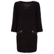 Buy Phase Eight Zip Pocket Ria Raschel Dress, Black Online at johnlewis.com