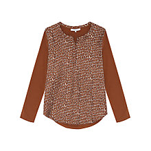 Buy Gerard Darel Bobo Giraffe Print T-shirt, Camel Online at johnlewis.com