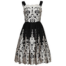 Buy Jolie Moi Tulle Floral Dress, Black Online at johnlewis.com