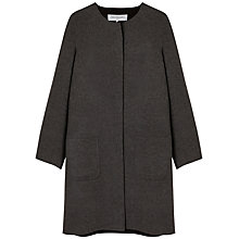 Buy Gerard Darel Bolduc Straight Collarless Coat, Grey Online at johnlewis.com