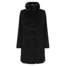 Buy Four Seasons Faux Astrakhan Coat, Black Online at johnlewis.com