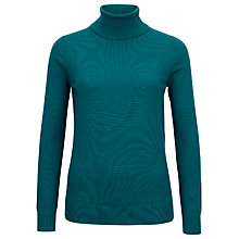 Buy Planet Knitted Roll Neck Top, Teal Online at johnlewis.com