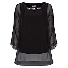 Buy Phase Eight Silk Beaded Blouse, Black Online at johnlewis.com