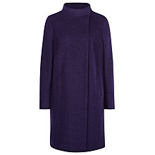 Buy Planet Boucle Coat, Dark Purple Online at johnlewis.com