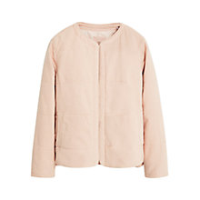 Buy Mango Quilted Jacket, Pastel Pink Online at johnlewis.com