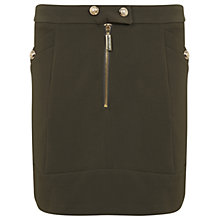 Buy Miss Selfridge Military Button Skirt, Khaki Online at johnlewis.com