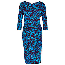 Buy Planet Animal Print Dress, Mid Blue Online at johnlewis.com