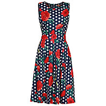 Buy Jolie Moi Floral Polka Dot Print Dress, Navy Online at johnlewis.com