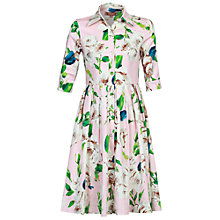 Buy Jolie Moi Floral Print Shirt Dress, Pink Online at johnlewis.com