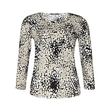 Buy Precis Petite Spot Print Jersey Top, Brown/Multi Online at johnlewis.com