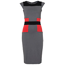 Buy French Connection Manhattan Dress, Grey/Black Online at johnlewis.com