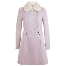 Buy Miss Selfridge Faux Fur Trim Collar Coat Online at johnlewis.com
