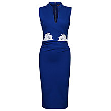Buy Jolie Moi Lace Appliqué V Neck Dress, Royal Blue Online at johnlewis.com