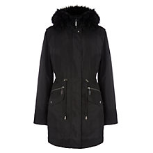 Buy Phase Eight Giana Glam Parka Coat, Black Online at johnlewis.com