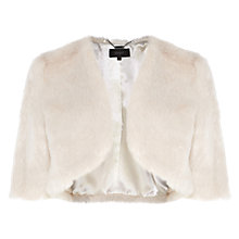 Buy Coast Faux Fur Cover Up, Ivory Online at johnlewis.com