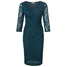 Buy Kaliko Rose Lace Wrap Dress, Dark Green Online at johnlewis.com