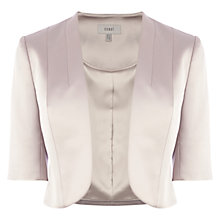 Buy Coast Aaliyah Duchess Satin Jacket, Neutral Online at johnlewis.com