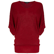 Buy Phase Eight Kareena Shimmer Jumper, Deep Red Online at johnlewis.com