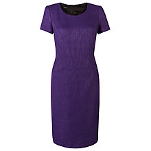 Buy Precis Petite Tweed Shift Dress, Purple Online at johnlewis.com