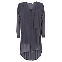 Buy Mint Velvet Ruffle Tunic, Grey Online at johnlewis.com