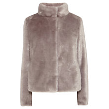 Buy Coast Oslo Faux Fur Coat, Grey Online at johnlewis.com