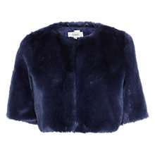 Buy Coast Faux Fur Cover Up, Blue Online at johnlewis.com