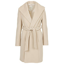 Buy Betty Barclay Belted Wrap Front Coat, Natural Melange Online at johnlewis.com