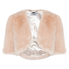 Buy Coast Faux Fur Cover Up, Blush Online at johnlewis.com