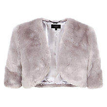 Buy Coast Faux Fur Cover Up, Grey Online at johnlewis.com