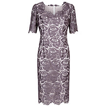 Buy Jacques Vert Lace Shift Dress, Purple Online at johnlewis.com