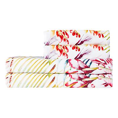 Harlequin Paradise Towels, Flamingo