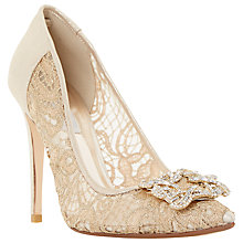 Buy Dune Breanna Jewelled Brooch Court Shoes Online at johnlewis.com